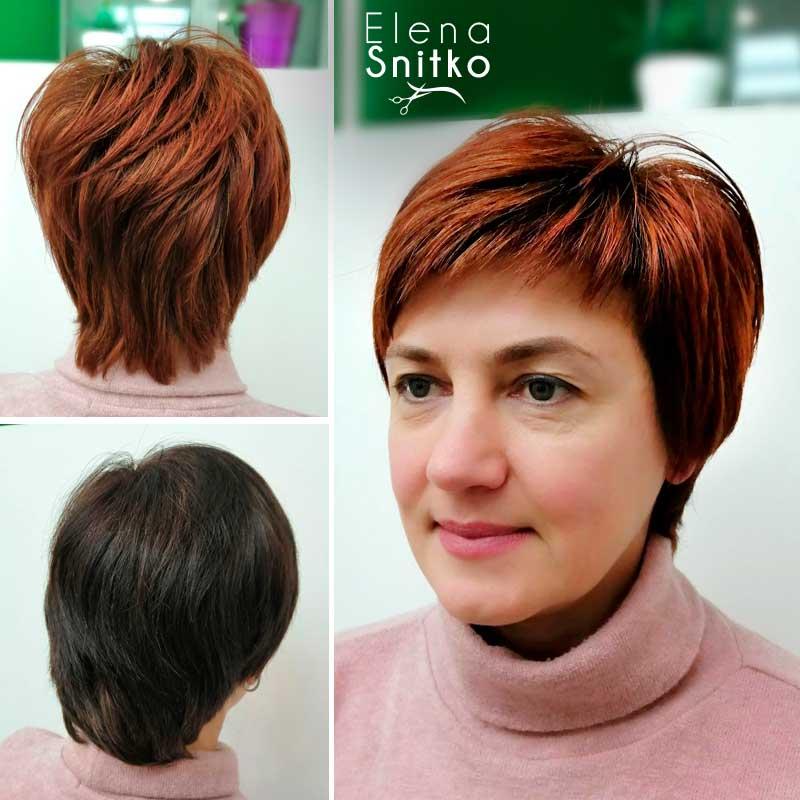 Elena-Snitko_preobrajenie_vyhod_is_chernogo_strijka_ryzhij_cvet_volos