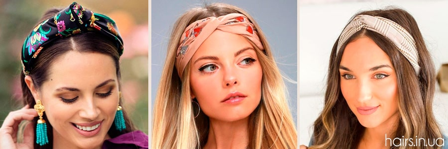 Фото повязок для волос на каждый день