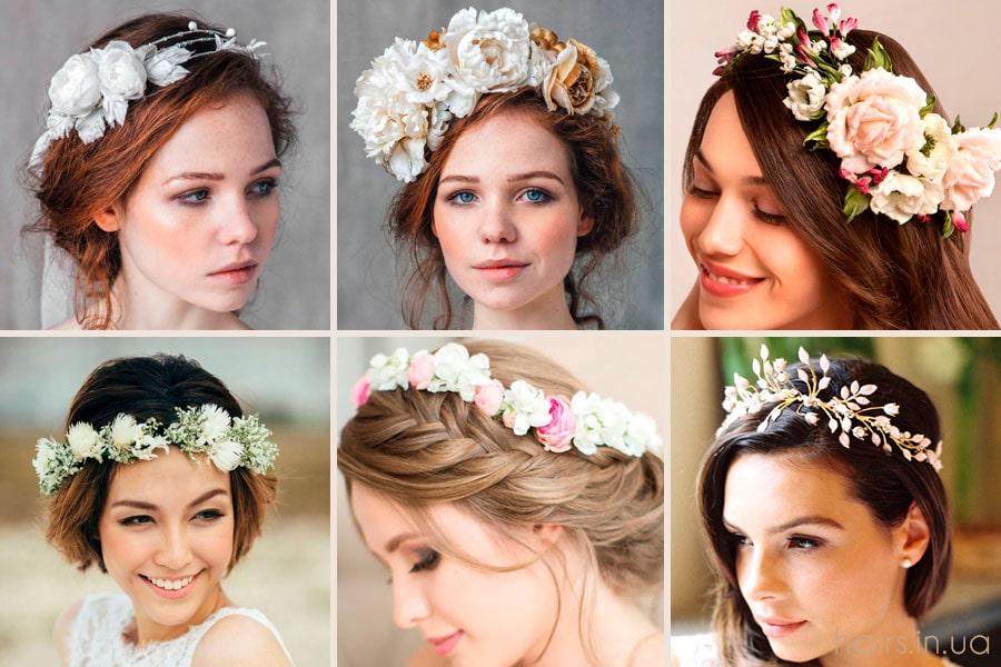Фото цветочных венков для волос