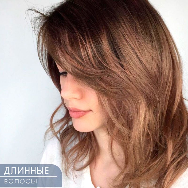 Фото женской стрижки на длинные волосы