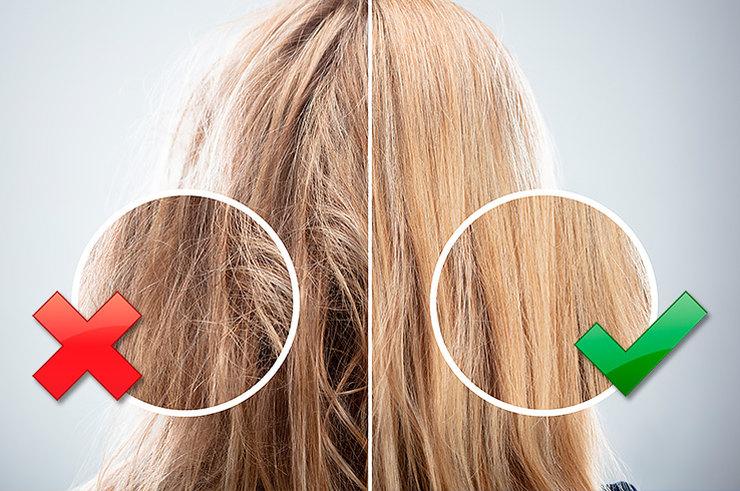 Фото волос после использования различных шампуней