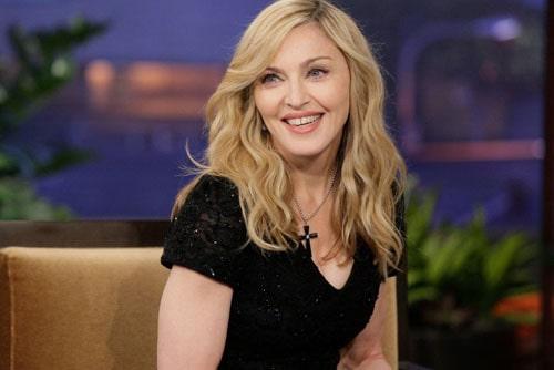 Мадонна на телевизионном интервью