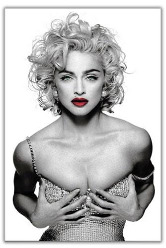 Мадонна с красными губами