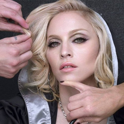 Мадонна на съёмках в клипе