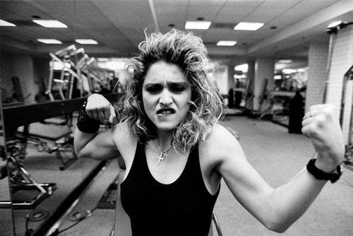 Мадонна в спортзале