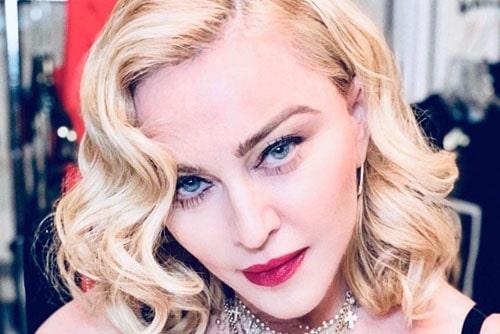 Мадонна - яркая блондинка